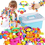 Pop Beads, ZoneYan Cuentas Pop para Niños, Kit de Fabricación de Joyas para Niños, Pop Beads Niños Bricolaje Joyería, Niños Joyería Snap Pop Beads DIY Kit, Un Regalo para Niños
