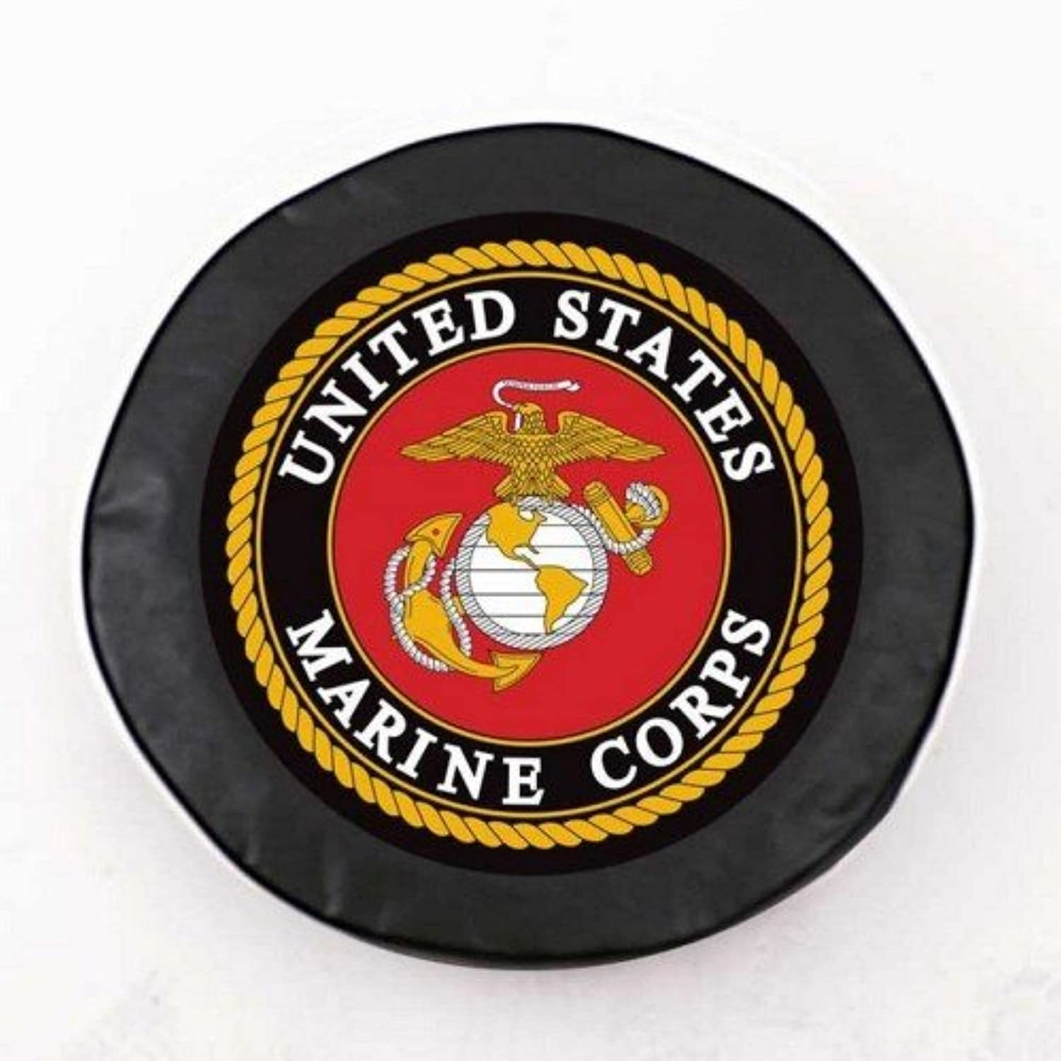 United States Marine Corps Black Tire Cover, Large