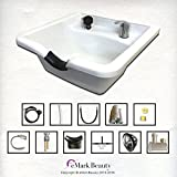 Extra Wide Shampoo Bowl White ABS Plastic Salon and Spa Hair Sink Beauty Salon Equipment TLC-W22