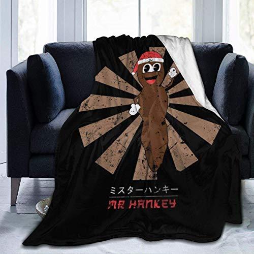 haoqianyanbaihuodian Mr Hankey - Manta de franela de forro polar japonesa, ligera, ultrasuave, cálida, para sofá
