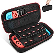 [Upgraded Version]- This carrying case is specially designed for Nintendo Switch with high-quality EVA material. Light weight and durable material make it as a necessary accessory for your love Nintendo Switch. What's more, as the upgraded version, a...