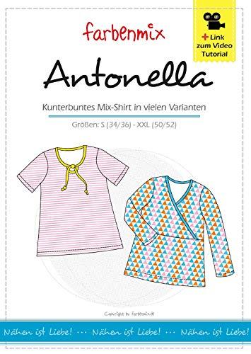 Antonella Farbenmix Schnittmuster (Papierschnittmuster für die Größen 34/36-50/52) Shirt