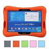 NEWSTYLE prueba de golpes para niños Super ligero cubierta de protección diseño de amplificador con entrada de Audio para Samsung Galaxy Tab 4 10.1 SM-T530 /T531 /T535 (naranja)