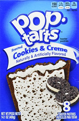 Kellogg's Pop Tarts Frosted Cookies & Cream 8 Stück (400 g Packung)