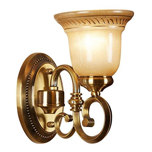 SKC Lighting-Applique murale Lampe murale en alliage de zinc de style européen, évier, balcon, balcon, couloir, extérieur, jardin, chevet, lampe de chevet (taille : Seule tête)