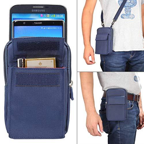 E-R1 6.4 inch en onder Universal Polyester Mannen verticale stijl Case schouder draagtas met riem Hole & Klimmen Buckle, for de iPhone, Samsung, Sony, Huawei, Meizu, Lenovo, ASUS, OnePlus, Xiaomi, Cub