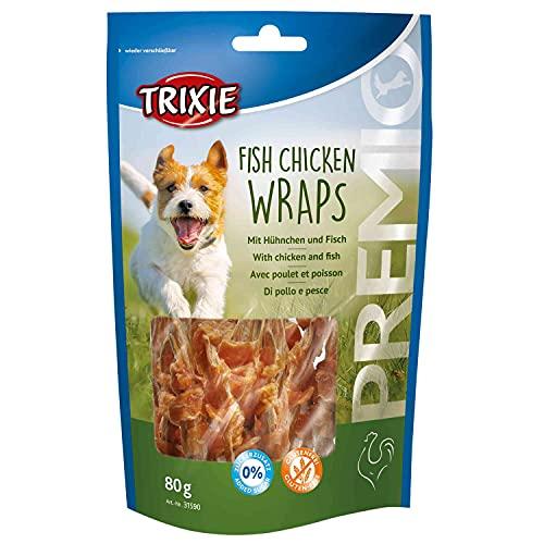 Trixie premio Fish Chicken Wraps, confezione da (5X 80G)
