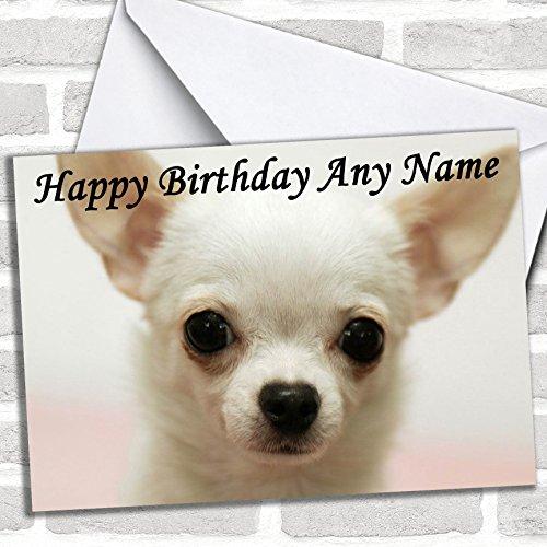 Witte Chihuahua Hond Verjaardagskaart Met Envelop, Kan Volledig Gepersonaliseerd, Verzonden Snel & Gratis