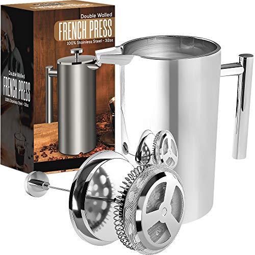 KICHLY (1L / 1000 ml 32 oz) 8 tazas Cafetera...