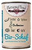herzenshund Bio di Pecora con Insalata di zucchine, Grano Saraceno Bio Bio, Bio, Bio Mela, Albicocca Biologico