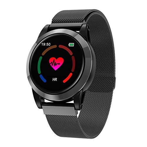YWXG Fitness Armband mit Pulsmesser,Wasserdicht IP68 Fitness Tracker Farbbildschirm Aktivitätstracker Schrittzähler Uhr mit 14 Trainingsmodi Vibrationsalarm Anruf SMS Beachten mit iOS Android