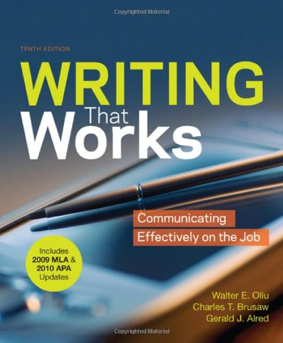 Writing that Works with 2009 MLA and 2010 APA Updates:...