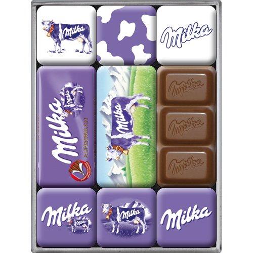 Nostalgic-Art Imán Set de 9 piezas - Milka