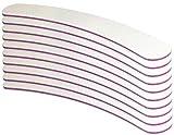 10er Set - Profifeile weiss gebogen Bananenfeile Körnung 100/180 - Kernfarbe Pink/Rot - made in Germany