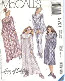 McCall's 5701 Lanz of Salzburg Misses' Sleepwear and Booties Sewing Pattern Size XS 6,8