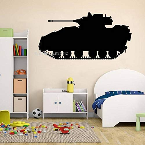 wZUN Tanque Etiqueta de la Pared calcomanía de Vinilo Tanque ejército guardería Guerra Papel Tapiz decoración niños Dormitorio decoración de la Pared 84X42 cm