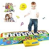 Womdee Klaviermatte Baby, Musikteppich Baby, Klaviermatte mit 8 Instrumenten Kinder Spielzeug Mit Musik und Lichter Tiermuster Kinder Baby Geschenk 100 * 36cm