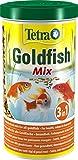 tetra pond goldfish mix - miscela di mangime completo per tutti i tipi di pesci rossi, 1 l