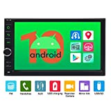 Android 10.0 Car Radio 2 Din Android Head Unit Double Din Car Stereo with Navigation 7 inch Touch Screen Support WiFi/3G/4G/1080P Video/OBDII/Car Logo/SWC/USB/TF/Bluetooth/Mirror Link