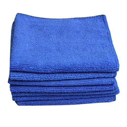 Demarkt 5 paños de Limpieza de Microfibra absorbentes, 300 gsm, 30 x 30 cm, Ideal para el hogar, la Oficina, la Cocina, el baño, el Coche, paño de Limpieza para Ventanas, Espejos, Pantalla (Azul)