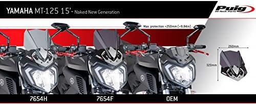 Puig 7654n Windschutzscheibe Naked New Generation Sport Schwarz Auto