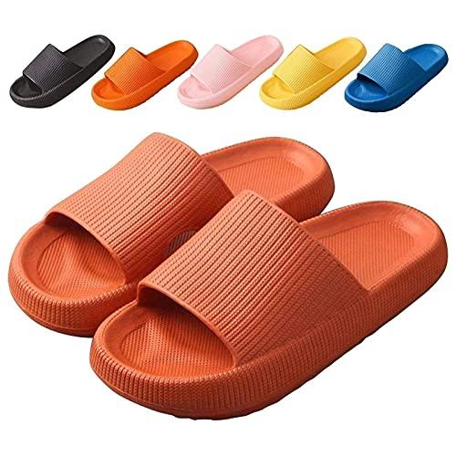 GYYlucky Zapatillas para Hombres Y Mujeres Sandalias De Baño De EVA De Secado Rápido Zapatillas Suaves con Punta Abierta Baño Antideslizante Piscina Gimnasio Casa Zapatillas De Interior Y Exterior