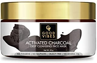 Good Vibes Activated Charcoal Deep Cleansing Face Mask, 60 g Blackhead Removal Deep Pore Cleansing Anti Acne Face Mask For...