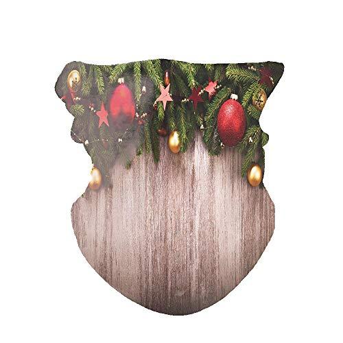 Huayuanhurug - Bandana para el cuello, para mujer, para exteriores, diseño de bandana,  Decoración navideña sobre tablero rústico de madera con estrellas de buena voluntad., Talla única