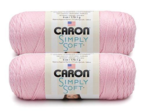 Bulk Buy: Caron Simply Soft Yarn Solids (2-pack) (Soft Pink) Baby Soft Yarn Pastel