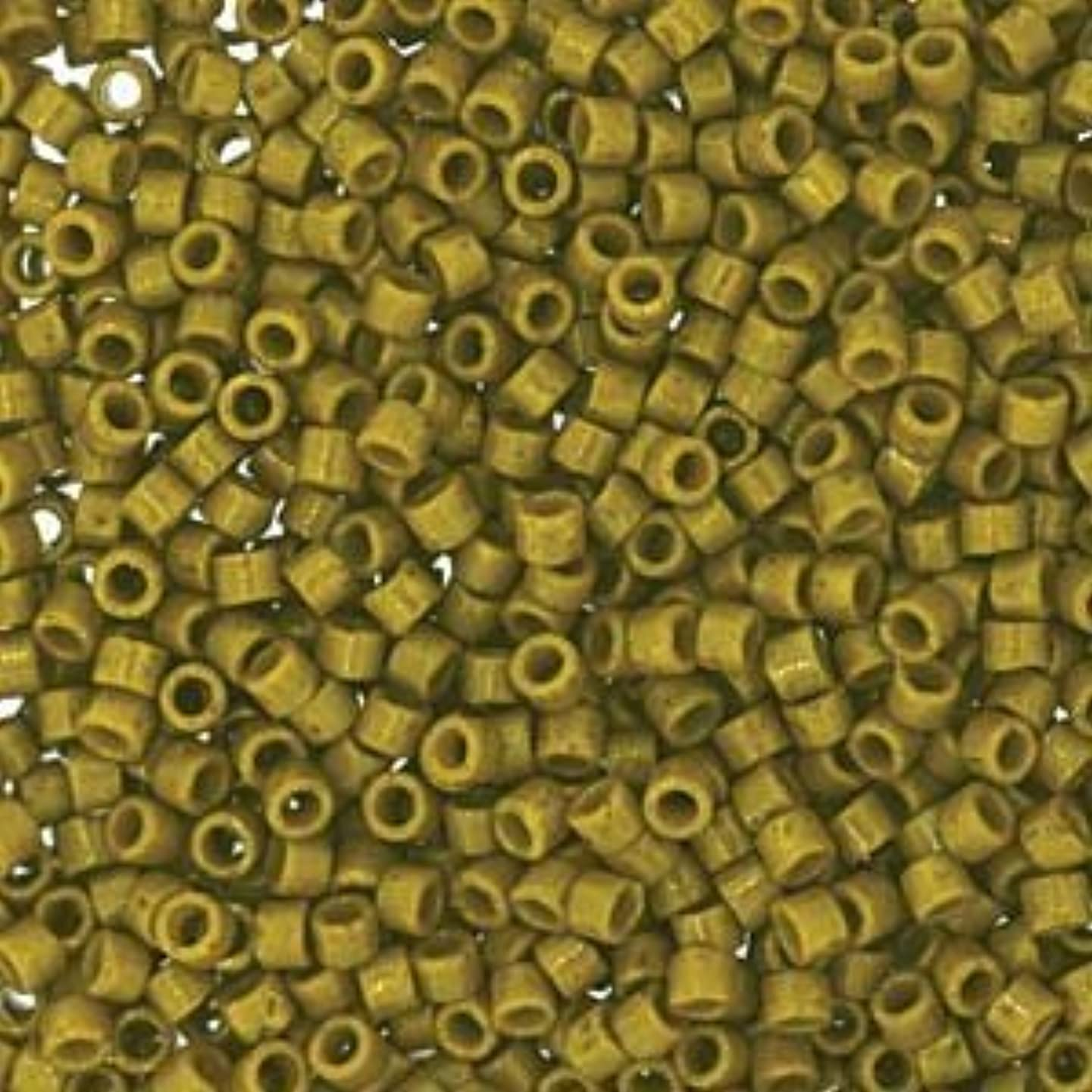 Miyuki Delica Seed Beads 11/0 Duracoat Opaque Spanish Olive 7.2 Gram DB2141