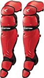 Easton Mako II Intermediate Catcher's Leg Guards, Red/Black