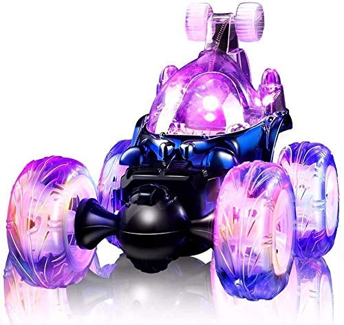 Invincible Tornado teledirigido de radio del coche del truco Dump Truck Escalada eléctrico Stunt Can vehículo 360 grados;El caer con luces y música de juguete Aprendizaje Temprano de juguetes educativ