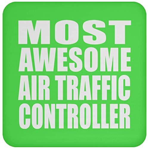 Most Awesome Air Traffic Controller - Drink Coaster Kelly Untersetzer Rutschfest Rückseite aus Kork - Geschenk zum Geburtstag Jahrestag Muttertag Vatertag
