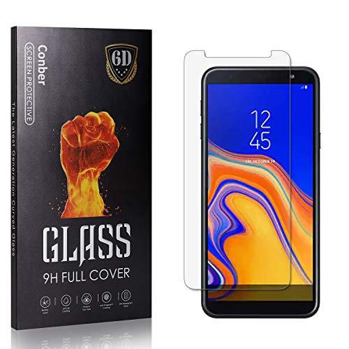 Conber Panzerglasfolie für Samsung Galaxy J6 Plus, [1 Stück] 9H gehärtes Glas, Blasenfrei, Kratzfest, Hochwertiger Hülle Freundllich Panzerglas Schutzfolie für Samsung Galaxy J6 Plus