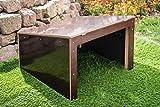 Mähroboter - Garage - Überdachung für Rasenroboter Bosch und Gardena aus stillvoll dunklem Holz - 69 x 69 x 42 cm - fertig montiert - witterungsfest Version