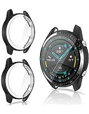 CAVN Protector de Pantalla Compatible con Huawei Watch GT2 46mm, 2 Unidades, TPU Suave Resistente a los arañazos, a Prueba de arañazos Funda Protector para GT2 46mm