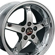 OE Wheels 17 Inch Fit Ford Mustang Cobra R Deep Dish Chrome 17x9 Rims SET