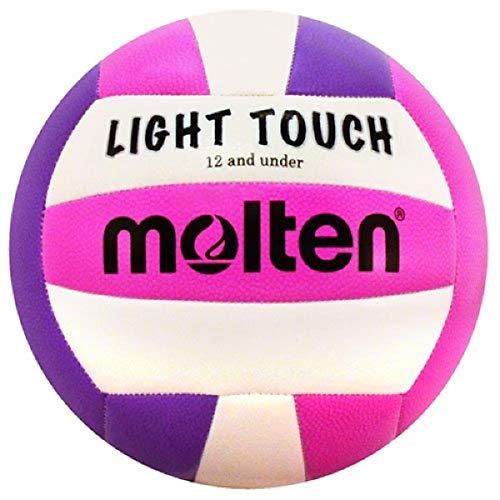 Molten MS240–3Leicht-Volleyball, rot/weiß/blau, MS240-VP, violett/pink, 12 & Under/8.1 oz