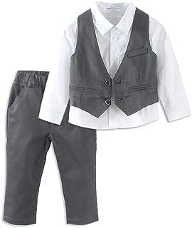 e2453ce10 LittleSpring Little Boys' Pants Clothing Sets Gentleman