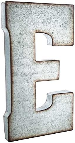 """C20th 5.5/"""" STAINLESS STEEL METAL SHOP PUB ADVERT ALPHABET DISPLAY SIGN Details about  /LETTER E"""