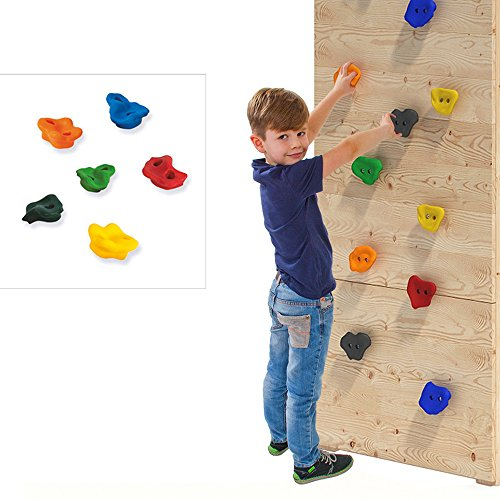 OSKAR 6er Set Klettersteine für Spielturm oder Kletterwand aus PE inkl. Befestigungsmaterial