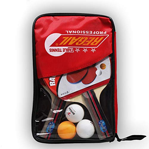 Best Bargain VEZARON 2pcs Professional Table Tennis Ping-Pong Racket Paddle Bat+3pcs Ball Bag Set fo...