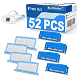 Medihealer CPAP Filters 52 Packs Compatible with Dreamstation: Includes 4 Preassembled Filters + 22 Pollen Filters + 22 Ultra-Fine Filters, Reusable Assembly Filter Kit,Medihealer Replacement Supplies