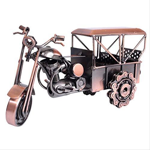 GIAO Figurines Ornamenten Figurines Decor Retro Smeedijzer Motorfiets Drie wielen Klassieke Auto Thuis Sieraden Decoratie Metalen Ambachten Model