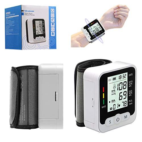 NANUNU Monitor de presión arterial de muñeca, hogar con pantalla digital LCD, puede medir automáticamente la presión arterial, probador, uso seguro y seguro.