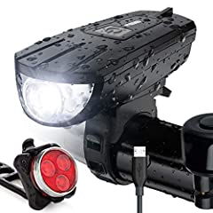 EXTREMELY BRIGHT - Featuring super bright proprietary LEDs that can vividly light up your immediate vicinity, even in total darkness. Unbeatable battery life of up to 6 hours per charge. Our bike light easily light up an entire road or mountain trail...