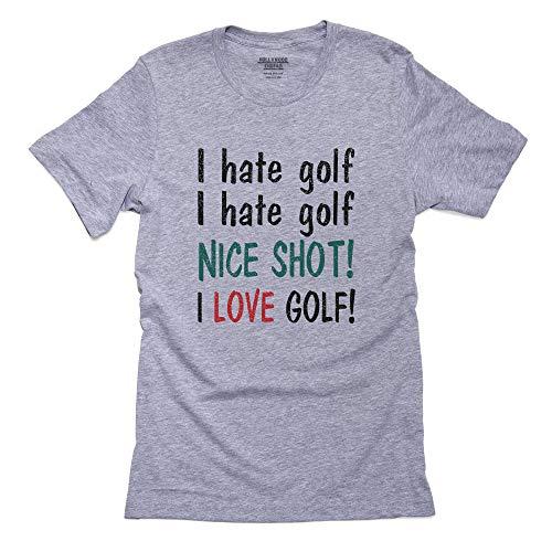 ik haat golf nice schot ik hou van golf - Grappig Golfen Heren T-Shirt