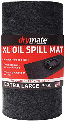 """Drymate XL Oil Spill Mat (36"""" x 59""""), Premium Absorbent Oil Mat – Reusable/Durable/Waterproof – Oil Pad Contains Liquids, Protects Garage Floor Surface (Made in The USA)"""