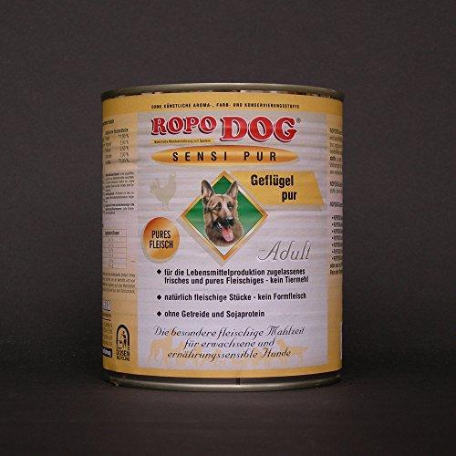 RopoDog 30 Dosen à 800 gr Adult Sensi Pur Geflügel - pures Fleisch