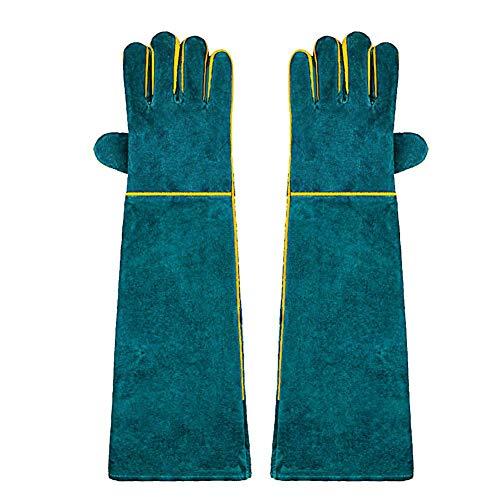 Ruier-hui Pet Handling Handschuhe Anti Bite Handschuhe Reptile Handling Handschuhe Sichere, langlebige Lederhandschuhe mit Kratz- / Bissschutz für Hunde, Katzen, Vögel, Schlangen, Eidechsen astounding